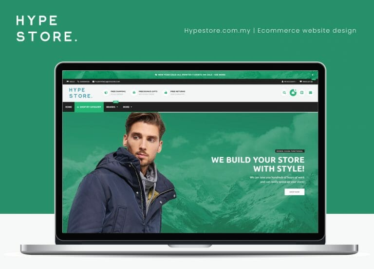 Hypestore – Ecommerce website